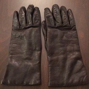 Accessories - Saks Chocolate brown leather gloves